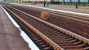 Железная дорога - как изображение, изображение образа жизни сток-видео