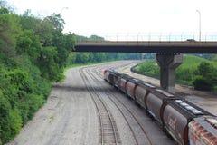 Железная дорога канадца Тихая океан в Milwaukee стоковые изображения rf