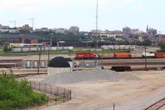 Железная дорога канадца Тихая океан в Milwaukee стоковое изображение rf