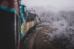 Железная дорога каньона Snowy Verde Стоковые Фотографии RF