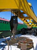 железная дорога крана поднимаясь стоковые фотографии rf