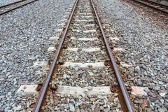 Железная дорога, железная дорога, промышленная предпосылка концепции Железнодорожное trave Стоковая Фотография RF