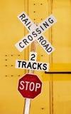 железная дорога скрещивания Стоковые Фотографии RF