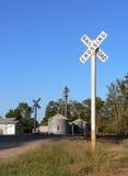 железная дорога скрещивания Стоковое фото RF