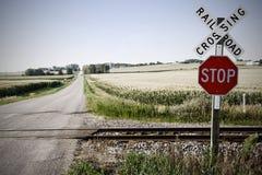 железная дорога скрещивания Стоковое Фото