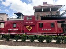 Железная дорога Cockaboose, стадион Williams Brice, Колумбия, Южная Каролина стоковая фотография rf