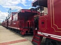 Железная дорога Cockaboose, стадион Williams Brice, Колумбия, Южная Каролина стоковые фото