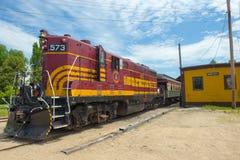 Железная дорога Conway сценарная, Нью-Гэмпшир, США Стоковое Изображение RF