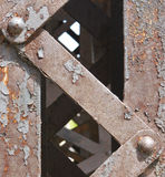 железная дорога детали моста Стоковое Фото