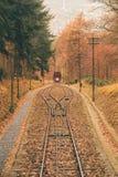 Железнодорожная дорога от городка Гейдельберга вверх по холму Стоковая Фотография RF
