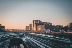 Железнодорожная сеть Торонто стоковые изображения rf