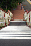 железнодорожная станция лестницы Стоковые Изображения