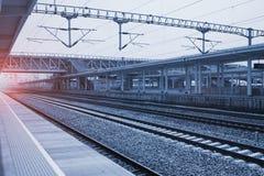 Железнодорожная станция стоковое фото rf