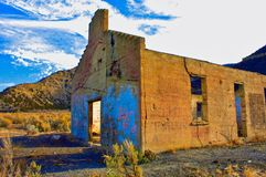 Железнодорожное здание на пропуске Baxter стоковое фото