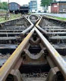 Железнодорожные пункты Стоковая Фотография RF