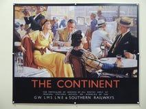 Железнодорожные рекламы назначения стоковая фотография rf