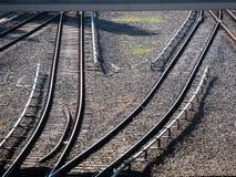 железнодорожные следы железная дорога стоковое фото