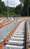 железнодорожные следы Стоковые Фото