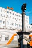 Железнодорожный вокзал Владивостока во Владивостоке, России стоковое изображение rf