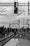 Железнодорожный вокзал в Лахти Стоковые Фото