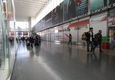 Железнодорожный вокзал в Рим, Италии стоковые изображения rf