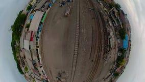 Железнодорожный вокзал в Сурабая Индонезии акции видеоматериалы