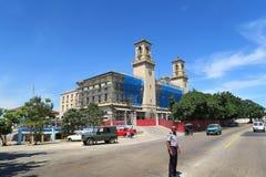 Железнодорожный вокзал Гаваны центральный под реконструкцией стоковое изображение