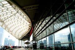 Железнодорожный вокзал Гуанчжоу южный Железнодорожный вокзал Гуанчжоу южный стоковые изображения