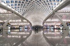 Железнодорожный вокзал Гуанчжоу южный Стоковое Изображение RF