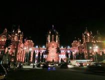 Железнодорожный вокзал конечной станции Chhatrapati Shivaji стоковые фотографии rf