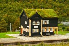 железнодорожный вокзал Норвегии здания Стоковое Изображение