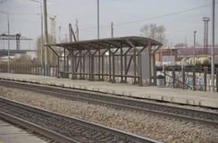 Железнодорожный вокзал пассажира стоковая фотография