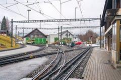 Железнодорожный вокзал поезда колеса cog Стоковое Фото