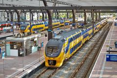 Железнодорожный вокзал Роттердама Centraal Стоковая Фотография RF