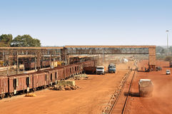 железнодорожный вокзал товаров Стоковые Изображения