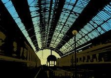 железнодорожный вокзал бесплатная иллюстрация