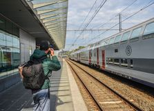 Железнодорожный вокзал Brugge стоковая фотография rf