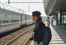 Железнодорожный вокзал Brugge стоковые фото
