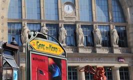 Железнодорожный вокзал Gare du Nord в Париже Стоковые Фото