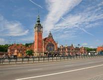 железнодорожный вокзал gdansk стоковое изображение