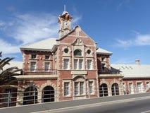 Железнодорожный вокзал Muizenberg, Кейптаун, Южная Африка стоковые изображения rf