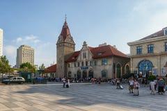 Железнодорожный вокзал Qingdao стоковое фото rf
