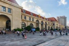 Железнодорожный вокзал Qingdao стоковая фотография