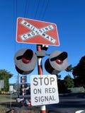 Железнодорожный знак 2 стопа Стоковая Фотография RF