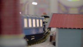 Железнодорожный миниатюрный конец вверх сток-видео