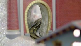 Железнодорожный миниатюрный конец вверх акции видеоматериалы