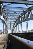 Железнодорожный мост в Москва Стоковые Изображения