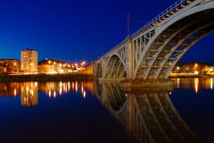 Железнодорожный мост в Maribor стоковое фото rf