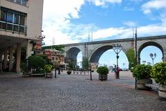 Железнодорожный мост на Zoagli Стоковое Изображение RF