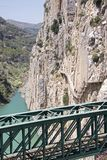 Железнодорожный мост скалой Стоковое Фото